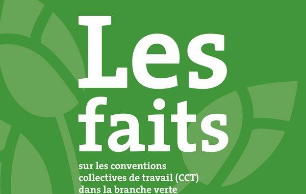 Les faits sur les conventions collectives du travail (cct) dans la branche verte