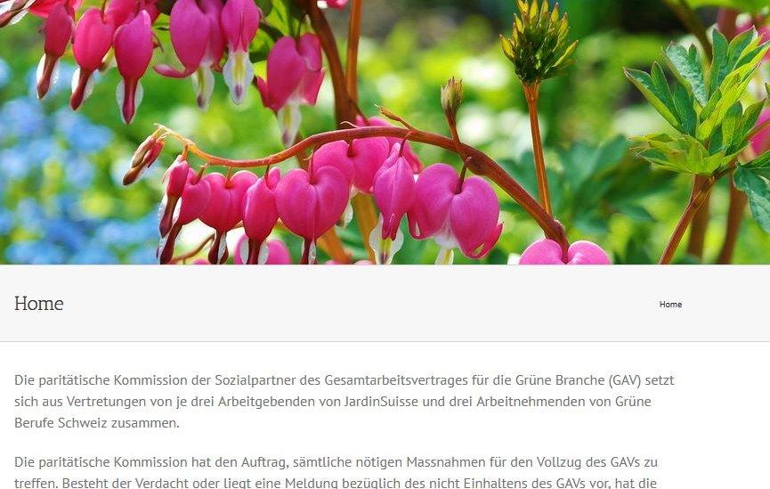 Screenshot Website Paritätische Komission